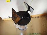 Vidrios de espín aluminoso modelo de la placa estante de exhibición, gafas de visualización del contador (B & C-B043)