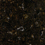 Pedra de mármore preta de quartzo da cor
