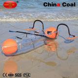 Barco plástico transparente Ym-01 del pedal de la pesca de 2 asientos