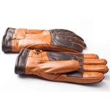 Перчатки зимы кожи Goatskin подкладки кашемира способа людей теплые (YKY5194)