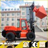 Forklift do terreno áspero de motor Diesel de Welift 3.5 toneladas todo o Forklift do terreno 4X4