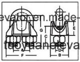 엘리베이터에 사용되는 DIN 741 철사 밧줄 클립