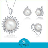 10 Years Manufacturer (J-0085)를 가진 새로운 Come Vogue Silver Pearl Jewelry Set