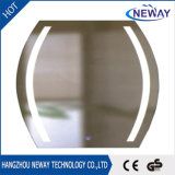 Espelho decorativo redondo do diodo emissor de luz da prata do competidor da luz da alta qualidade