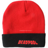 Factory OEM Produce Custom Made Embroidery Acrylic Ribbed Ski Snow Knit Cap