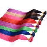 Cabelos de unha de cabelo humano 100%, Extensões de cabos U Tip