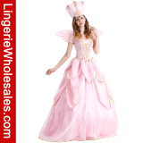 Traje rosado de princesa Flower Fairy Dress Godmother de Tinkerbell de las mujeres