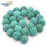 느슨한 원석 DIY 보석 부속 용암 돌 크기 6 8 10 12 14 16 자연적인 녹색 화산암