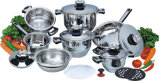 高品質16PCS Stainless Steel Cookware Set (CS116002)