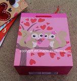 Изготовленный на заказ счастливые мешки подарка праздника влюбленности яркия блеска мешка подарка бумаги печатание дня Valentine