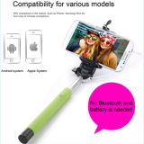 Bunter verdrahteter Edelstahl Selfie Stock für Smartphone