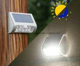 Lampe extérieure solaire de lumière de chemin de yard de frontière de sécurité d'horizontal de jardin du support 9LED de mur de pouvoir