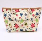 5 -先の尖った星のわらの大きいバックル袋