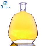 Glasflasche des Feuerstein-650ml mit Korken-Oberseite