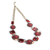 Colliers réglés de bracelets de boucles d'oreille de poste de fleur de résine de bijou acrylique en verre neuf de mode