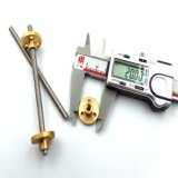 Parafuso movimentador de China do aço inoxidável do diâmetro de Tr5*2 5mm com linha trapezoidalmente