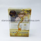 Пластичная коробка косметик для PVC упаковывая печатание Pantenewith UV