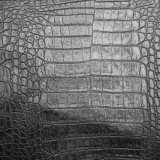 Cuoio artificiale dell'unità di elaborazione del reticolo del coccodrillo di colore scuro per la borsa del sacchetto