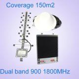 Ganho 75dB do impulsionador 900/1800 do sinal da G/M do impulsionador do sinal do telefone de pilha