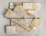 panneaux intérieurs et extérieurs de quartzite verte de 18*35cm de décoration d'ardoise de mur en pierre