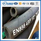 wand sich Stahldraht 4sh schwarzer hydraulischer Gummiöl-Schlauch
