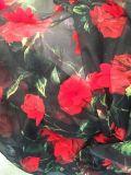 Ткань нового цветка конструкции 3D шифоновая для платья высокого качества