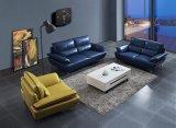 Sofá de couro real do sofá secional do estilo chinês de Lizz