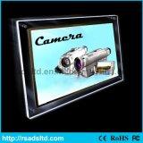 Frame de caixa leve de cristal de Frameless do parafuso fixado na parede