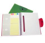 Cuaderno espiral de encargo del direccionamiento con la cubierta de los PP para el regalo del asunto (PPN220)