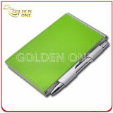 Sale chaud Pocket Anodized Aluminium Leather Notebook avec Ball Pen