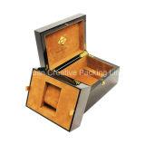Rectángulo de empaquetado laqueado aduana de madera de lujo del reloj de madera del rectángulo de reloj