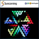 結婚式Decoration Super Brightness RGB Backdrop 3D LED Triangel Panel Light