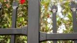 Röhrenstahlgarnison-Zaun täfelt beschichtete 2100mm x 2400mm das schwarze Puder