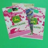 Saco de plástico bonito dos doces pequeno com impressão do logotipo