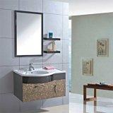 Module de salle de bains en acier fixé au mur simple avec l'étagère