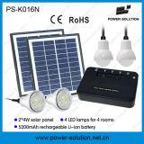 Sistema di illuminazione domestico solare portatile con 4 lampadine ed il telefono solare Cahrger del USB