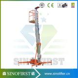 6m zur Lufteinzelnen Aufzug-Tisch-Aluminiumplattform des Mast-10m