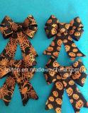 Halloween 반짝임 호박과 웹 나비 넥타이 (PM028)