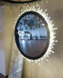 LED-Wand-Lampe mit Kristallen und Spiegeln