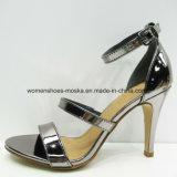 Zapatos cómodos de la sandalia del alto talón de señora Fashion con la punta del pío