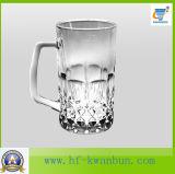 Alta qualità di vetro della tazza della birra delle tazze con la cristalleria Kb-Hn090 della maniglia