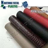 Couro baixo quente do PVC para fazer a sapata/mobília/bagagem