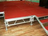 Étape extérieure de mariage de plate-forme réglable d'étape d'aluminium