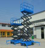 トラック引かれた移動式空気作業プラットホーム