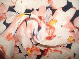 Affollamento del tessuto di Chiffen del fiore della pesca