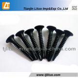 Parafusos fosfatados do Drywall da linha preto fino