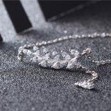 Collana Pendant lunga dei nuovi di modo 925 fogli dell'argento sterlina, pendenti liberi delle donne della CZ & monili superiori delle collane
