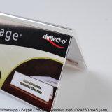 211*77cm 탁상 명확한 아크릴 기업 이름 카드 전시 홀더