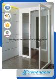 Tente en aluminium Windows de tissu pour rideaux d'inclinaison et de spire d'oscillation simple