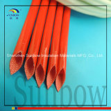 4000V Hittebestendige Glasvezel Sleeving van Sleeving van de Glasvezel van het silicone de Rubber